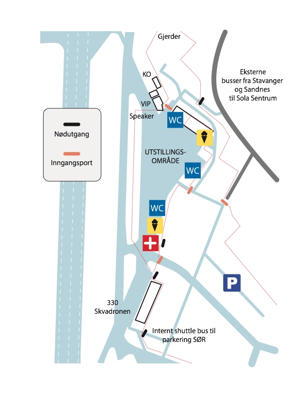 Området på flyplassen der det skjer